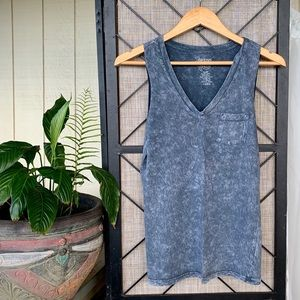 Sirens and Dolls Grey Faded Tank Small